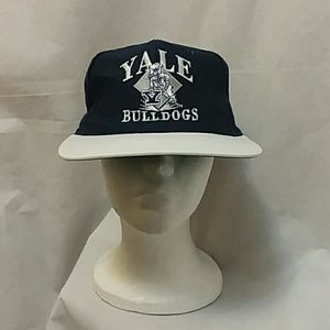 Vintage Yale Bulldogs Navy Blue Snapback Hat Cap